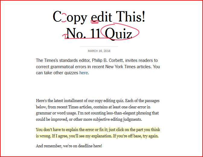NYT Quiz fix