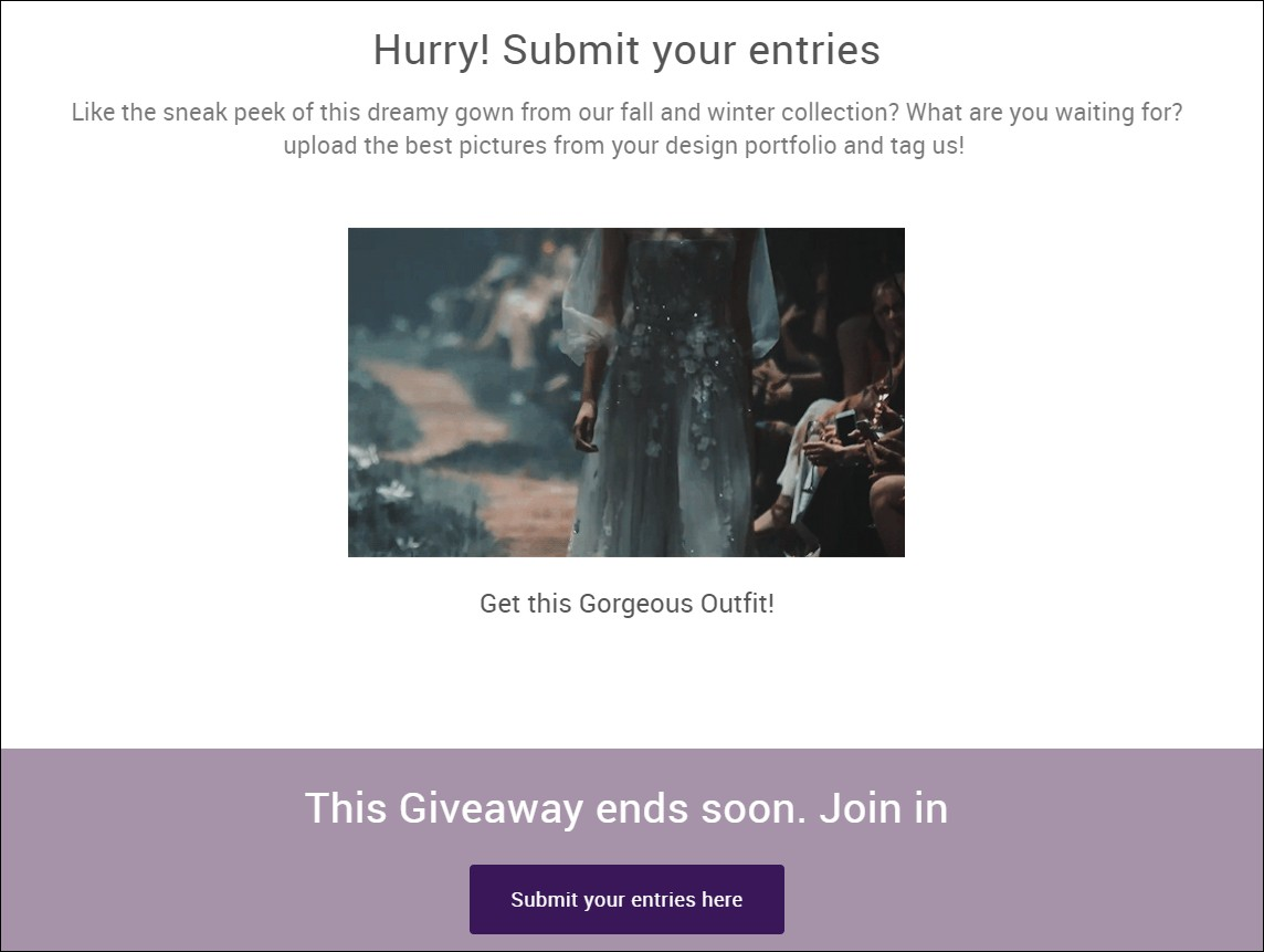 how to do a giveaway