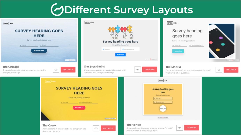 different survey layouts - free survey plan